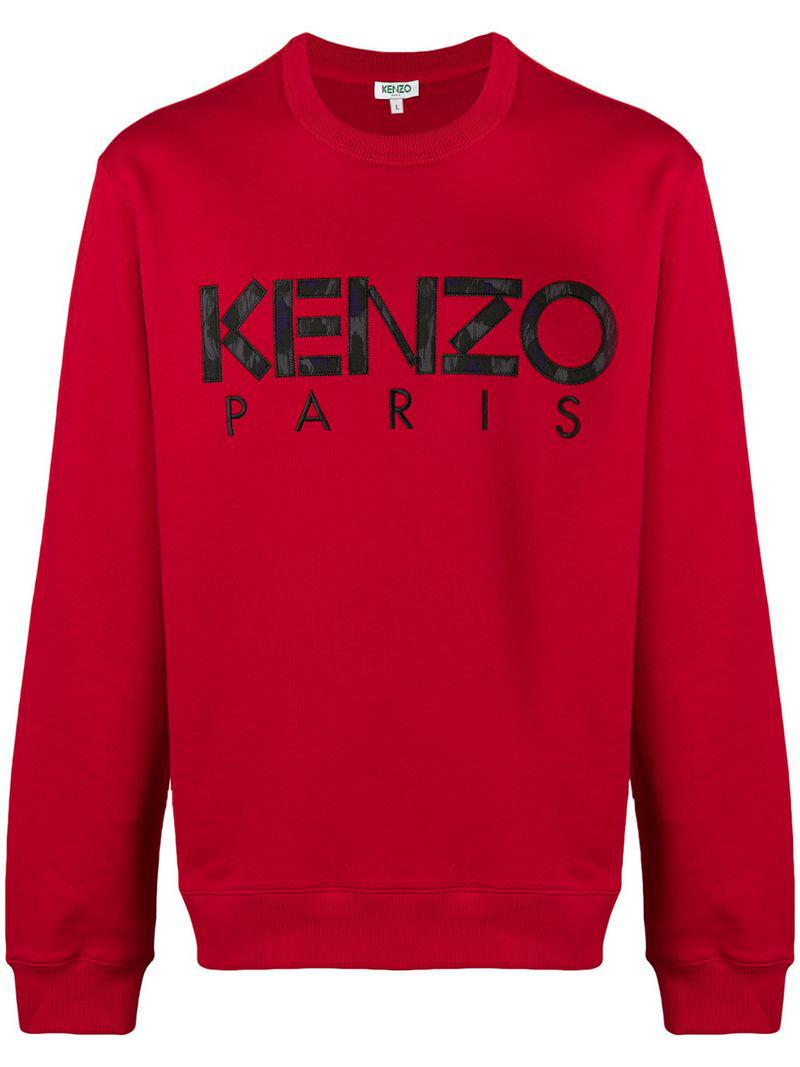45d0adea Kenzo Embroidered Logo Sweatshirt in Red for Men - Save 0.625% - Lyst