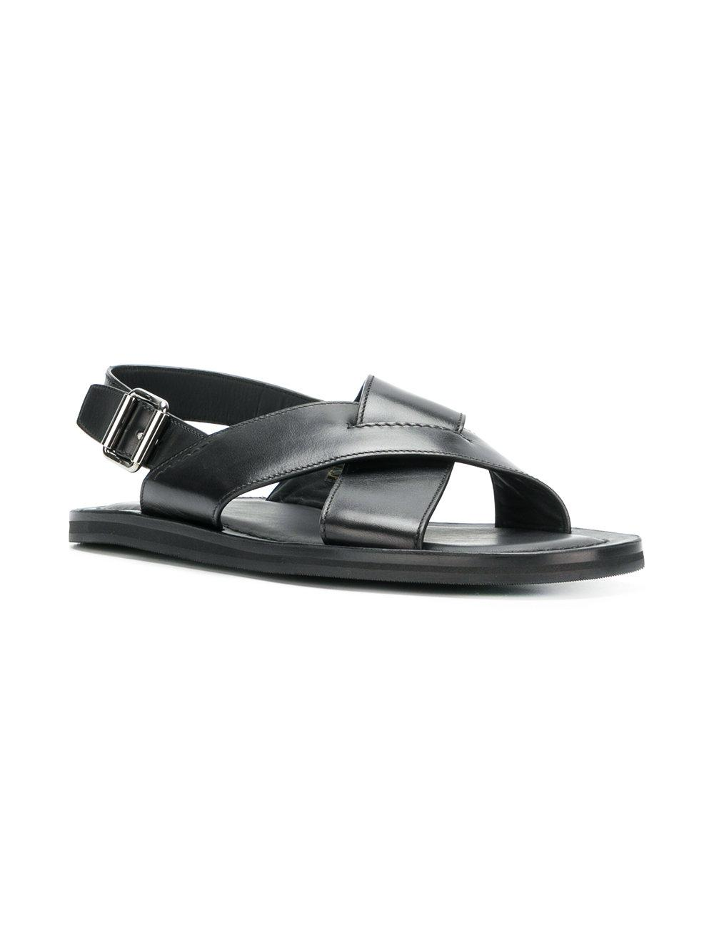 f303d4177b12 Church s - Black Crossover Strap Sandals for Men - Lyst. View fullscreen