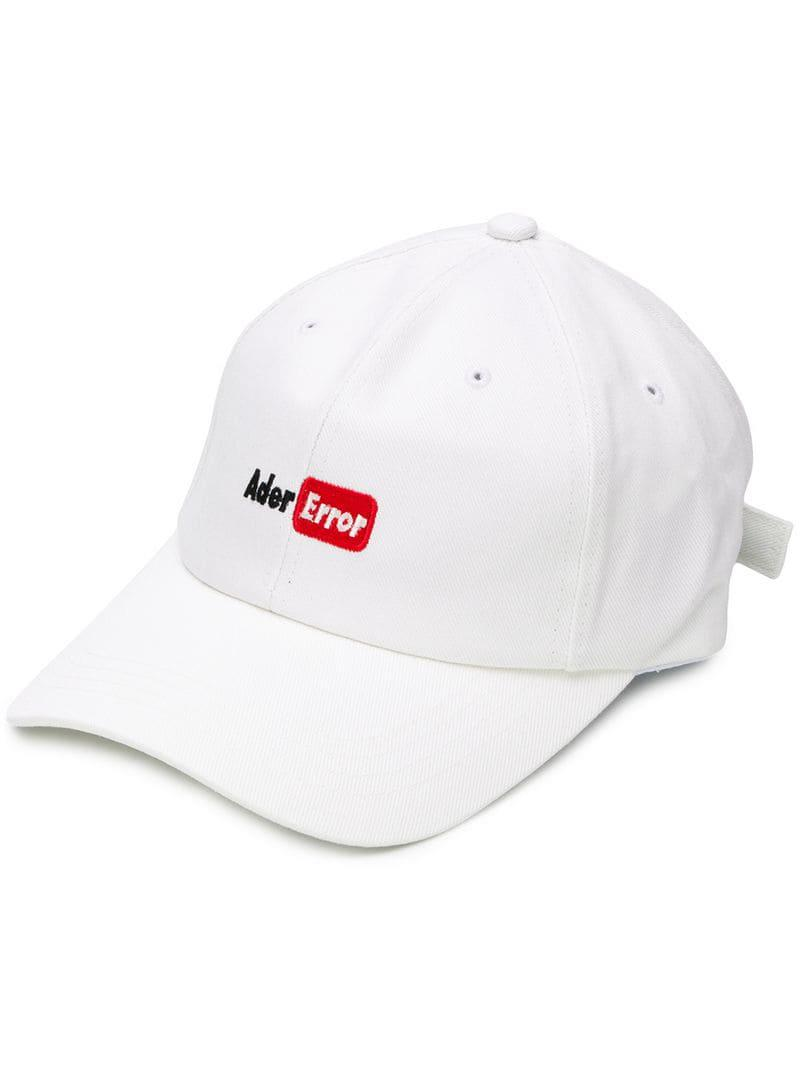 a1efe643af0 Lyst - Ader Error Youtubetm-style Embroidered Logo Cap in White for Men