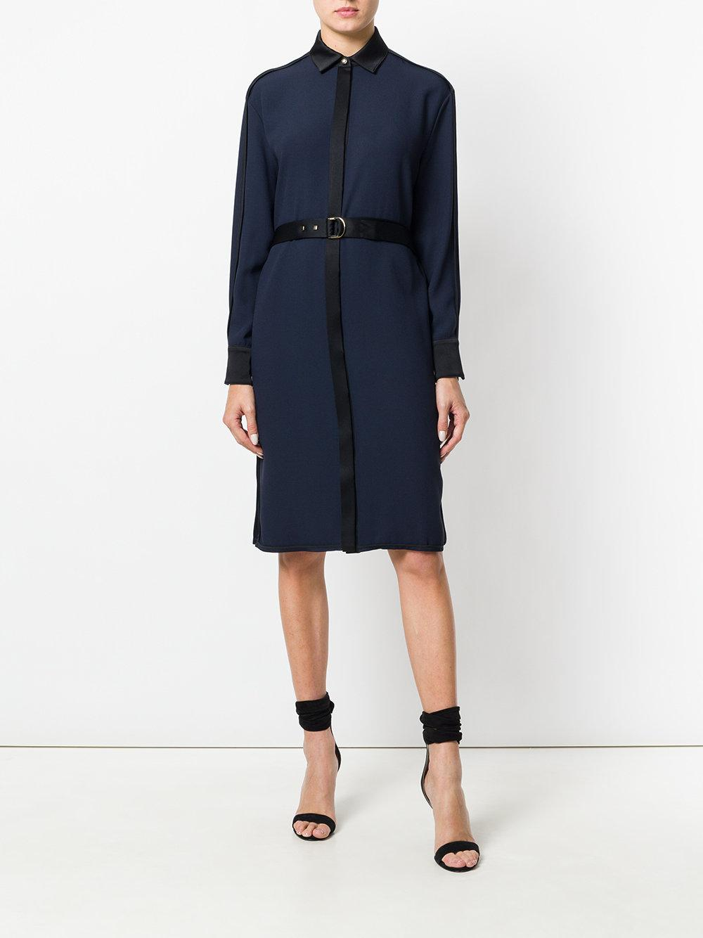 belted shirt dress - Blue Versace Big Sale Online NNoQoRKv