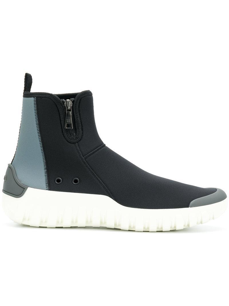 Prada Black Sock Sneakers