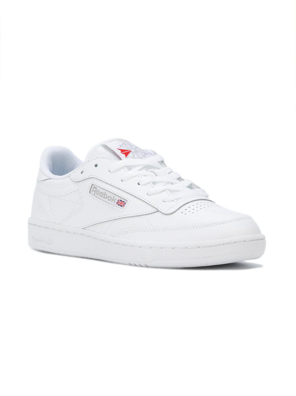 dcd9d8eceda64 Reebok Lace Up Trainers in White - Lyst