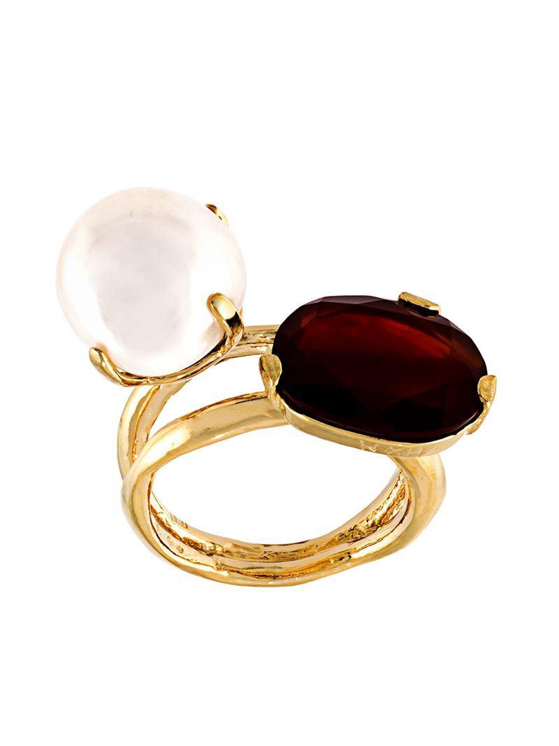 Wouters & Hendrix My Favourite freshwater pearl ring - Metallic YF3lapX