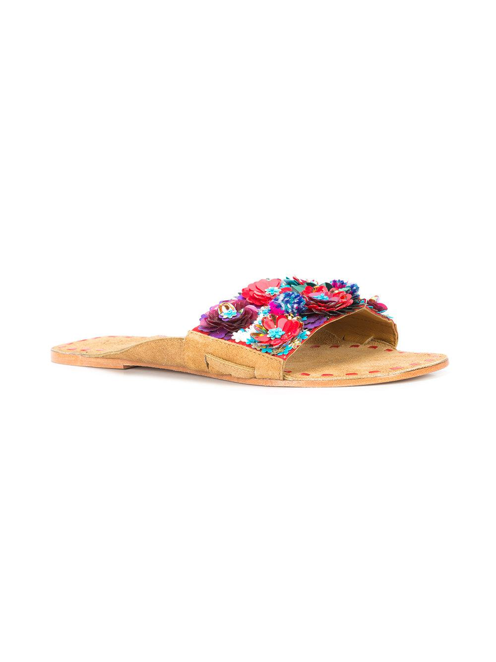 Figue floral embellished slide sandals low price cheap price free shipping factory outlet rfSOagWCg