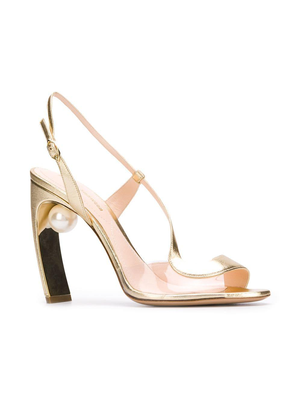 86c3127aaa6a Nicholas Kirkwood Maeva Pearl S Sandals in Metallic - Save  2.3076923076923066% - Lyst