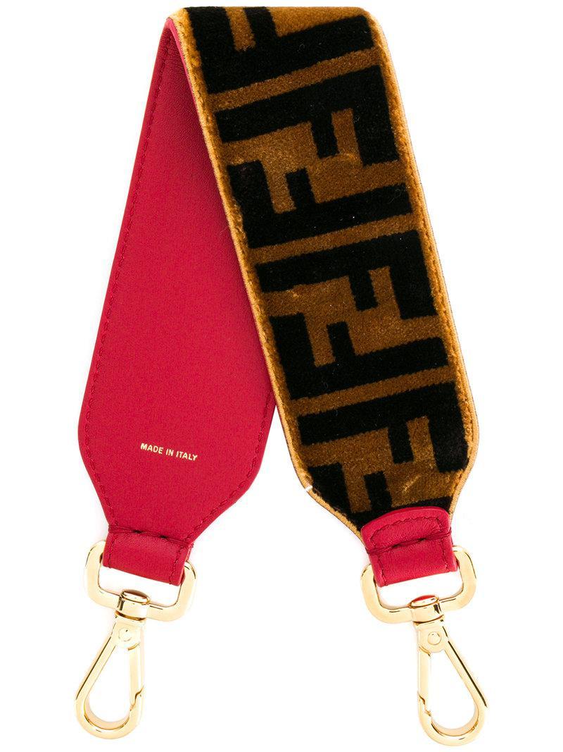 6a7be5d29315 Lyst - Fendi Mini Monogram Strap You in Brown - Save 1%