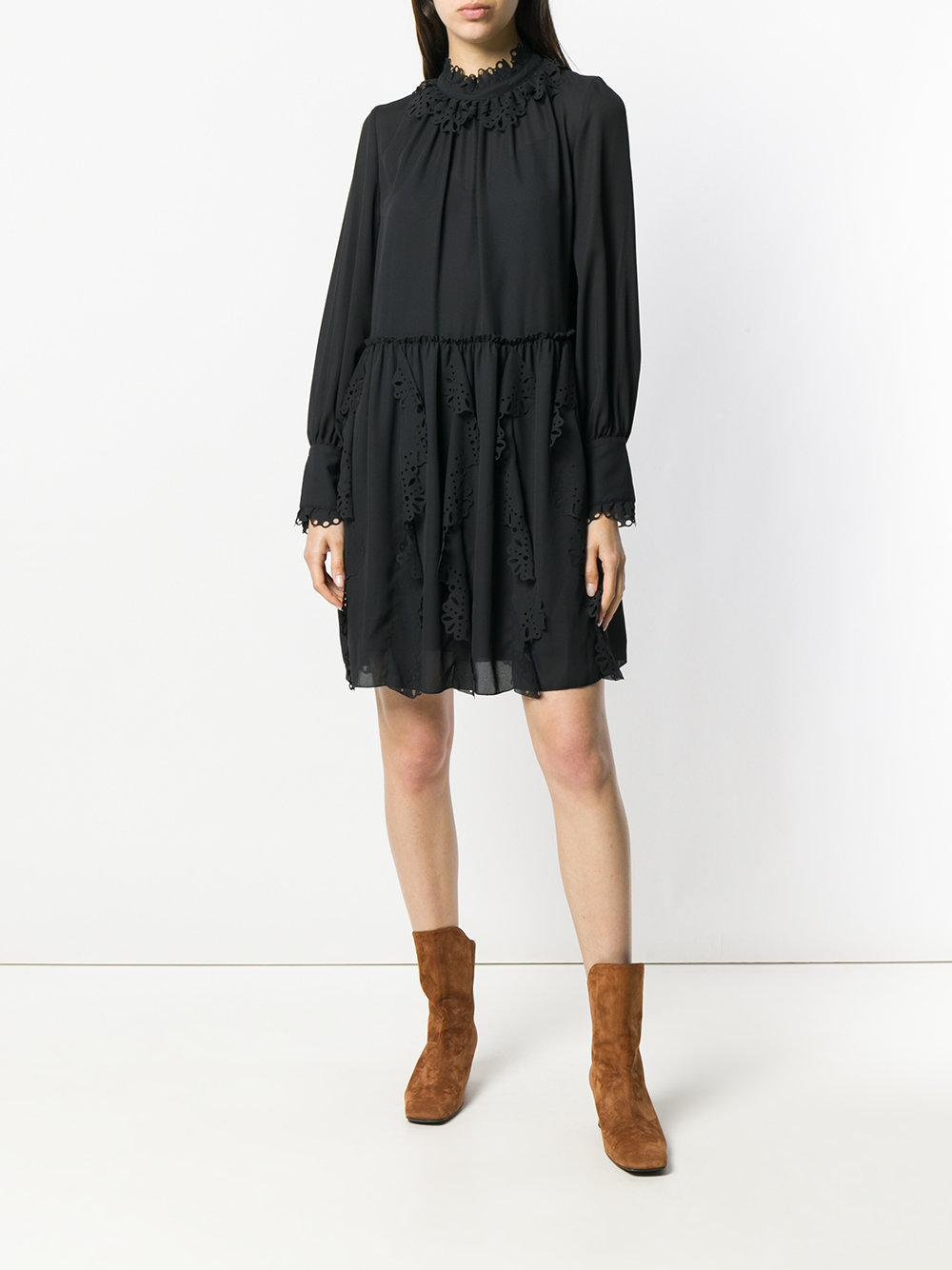 See By Chloé laser-cut detail dress Clearance Cheapest Sale Extremely Sast Cheap Price tCfKE2R