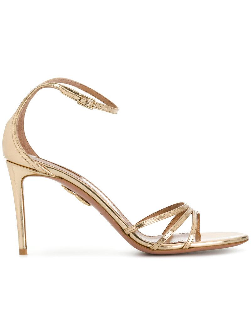 wave strap sandals - Metallic Aquazzura 5DvotZOFg