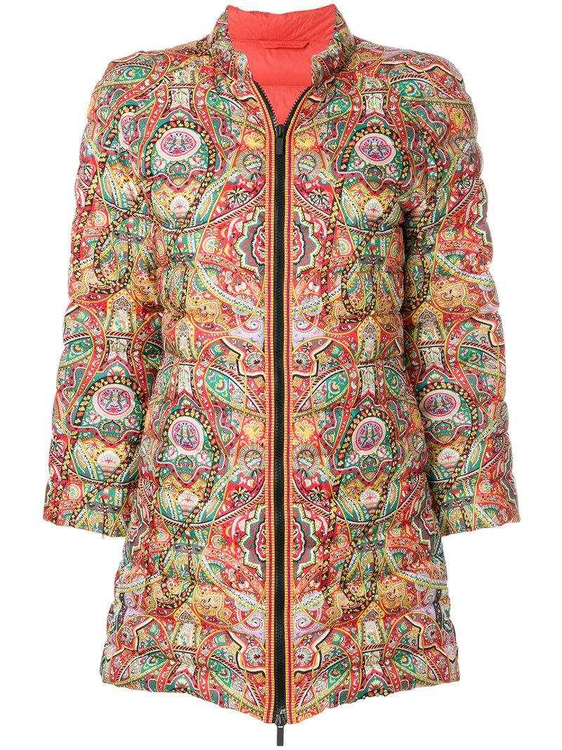 Free Shipping Explore Cheap Sale Best Etro mixed print padded jacket Huge Surprise Cheap Price CtIlU