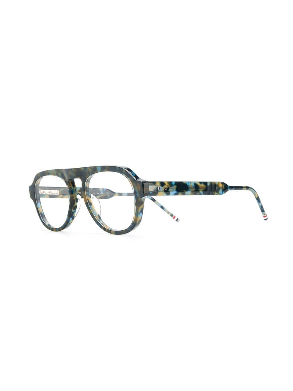 2218ae316bd0 Thom Browne Navy Tortoise Glasses in Blue for Men - Lyst