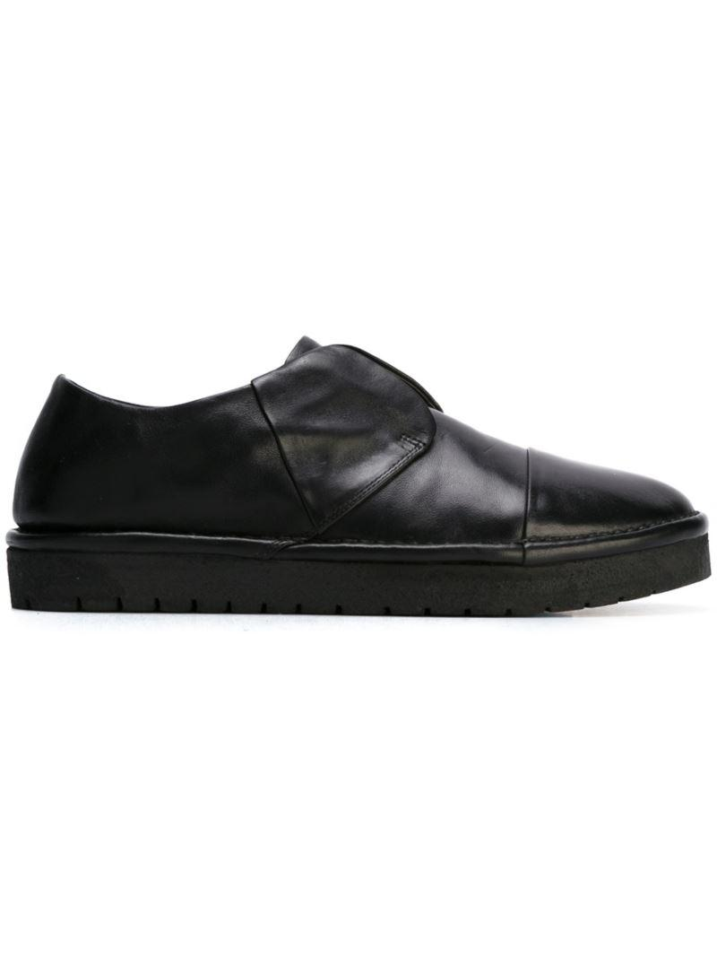 Marsèll Black Leather Slim Sneakers 1XbRYdgi