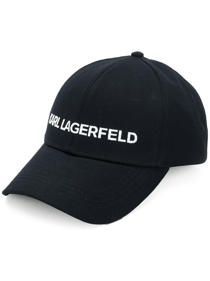 Karl Lagerfeld. Men's Black Karl's Essential Logo Cap