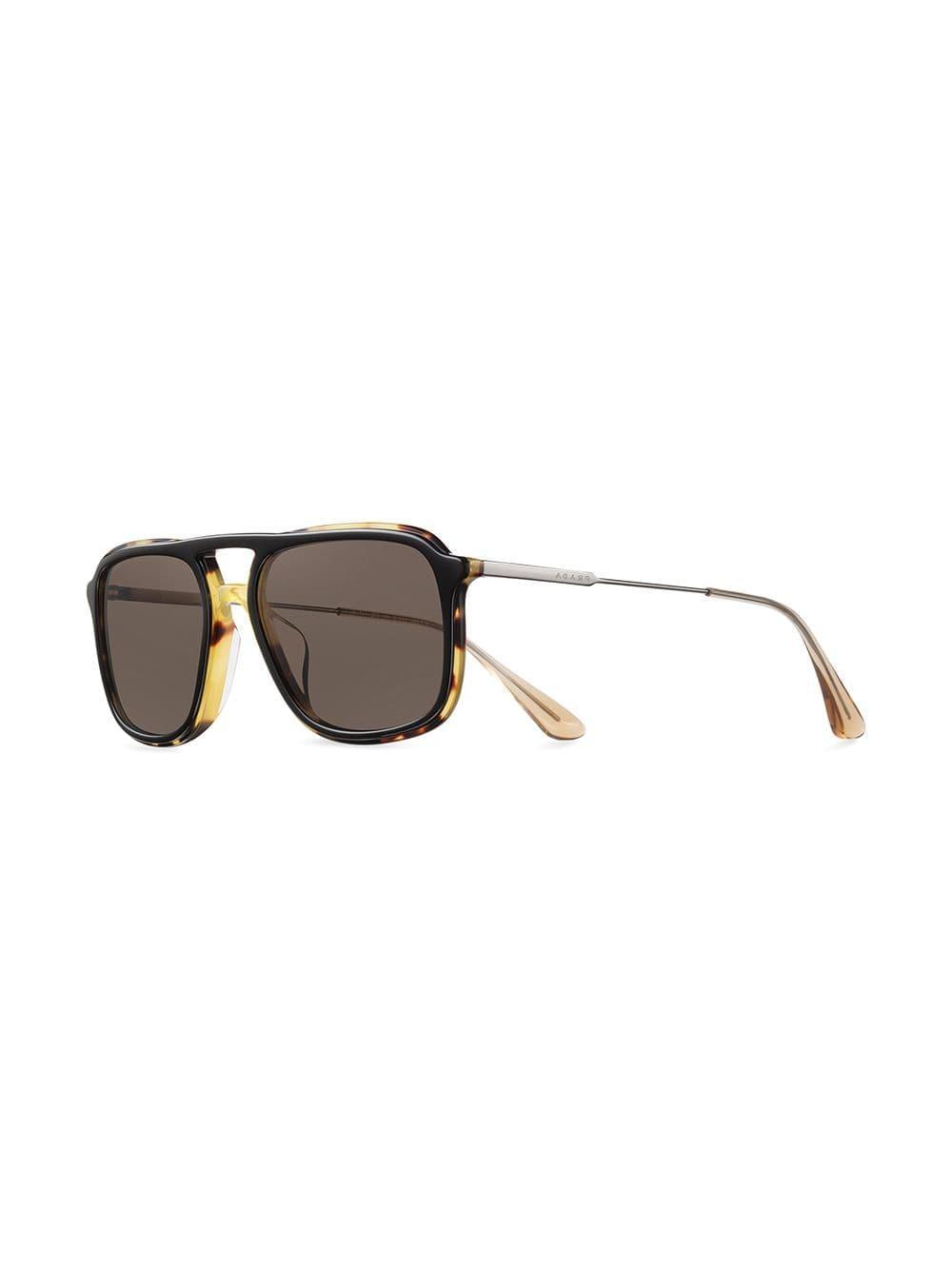 124c540800c8 Lyst - Prada Oversized Tortoiseshell Sunglasses in Black for Men