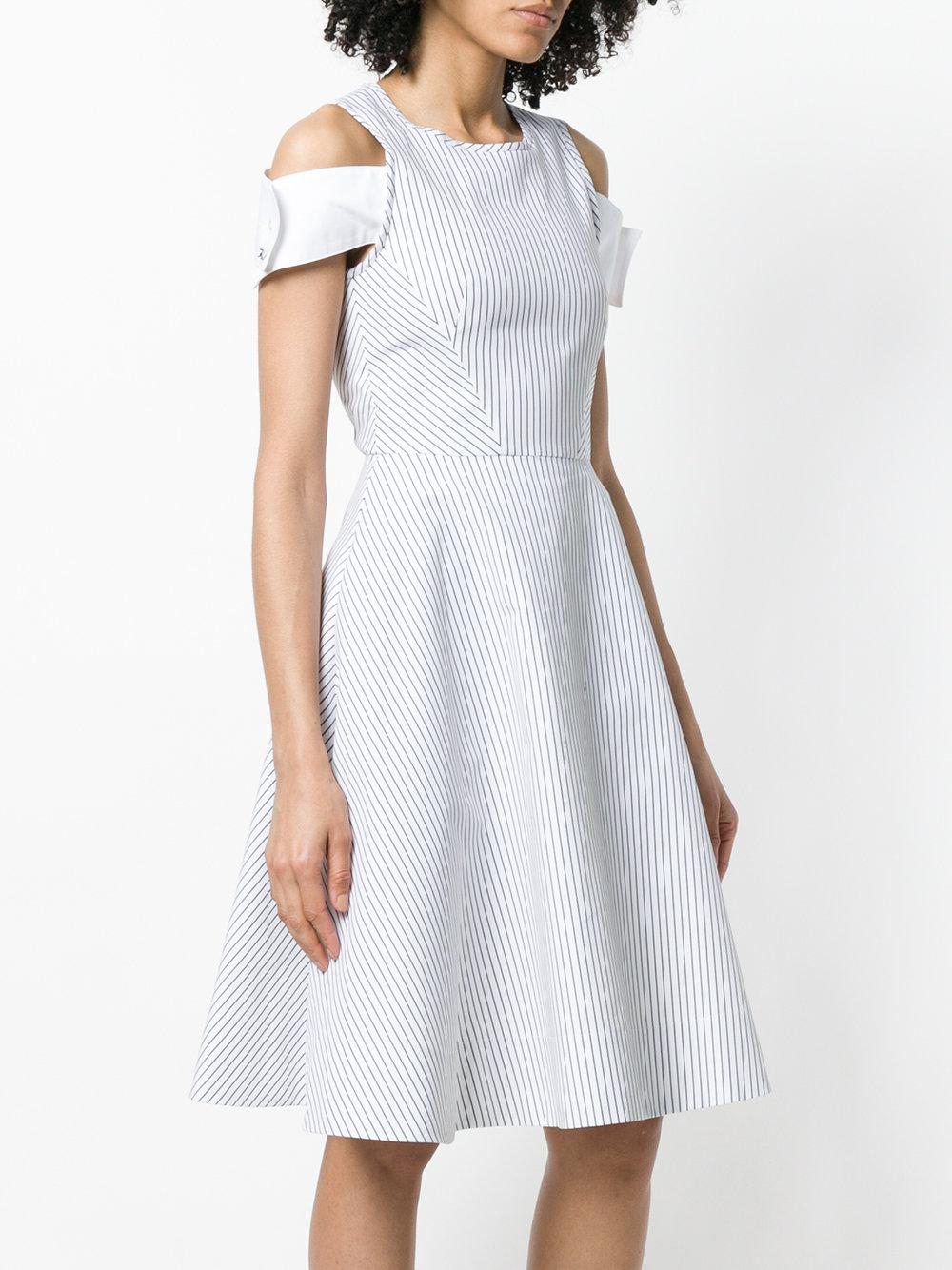cut-out shoulder dress - White Karl Lagerfeld nKiy5M3f03