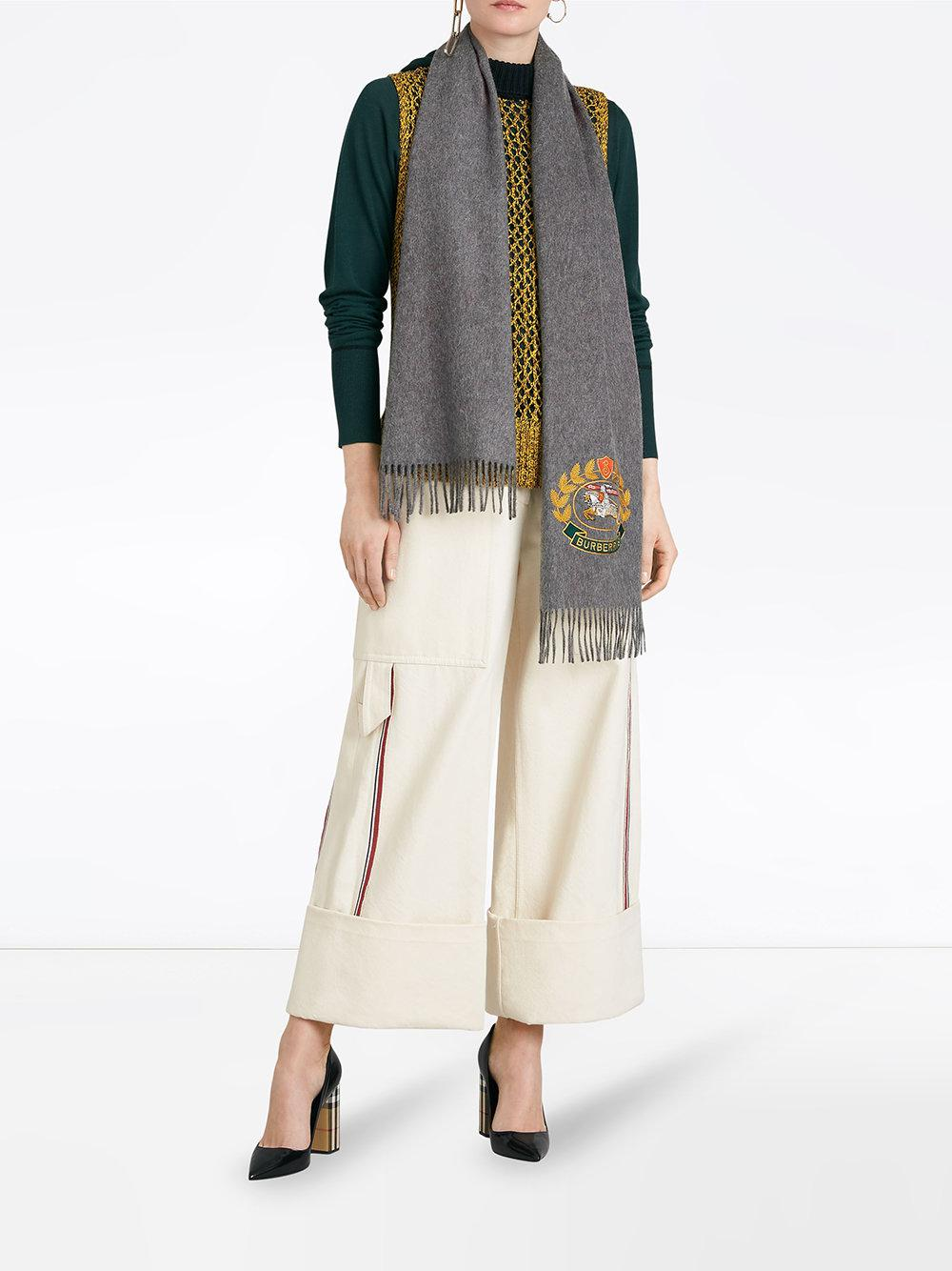 Burberry - Gray The Classic Cashmere Scarf With Archive Logo - Lyst. View  fullscreen 7278db67a6