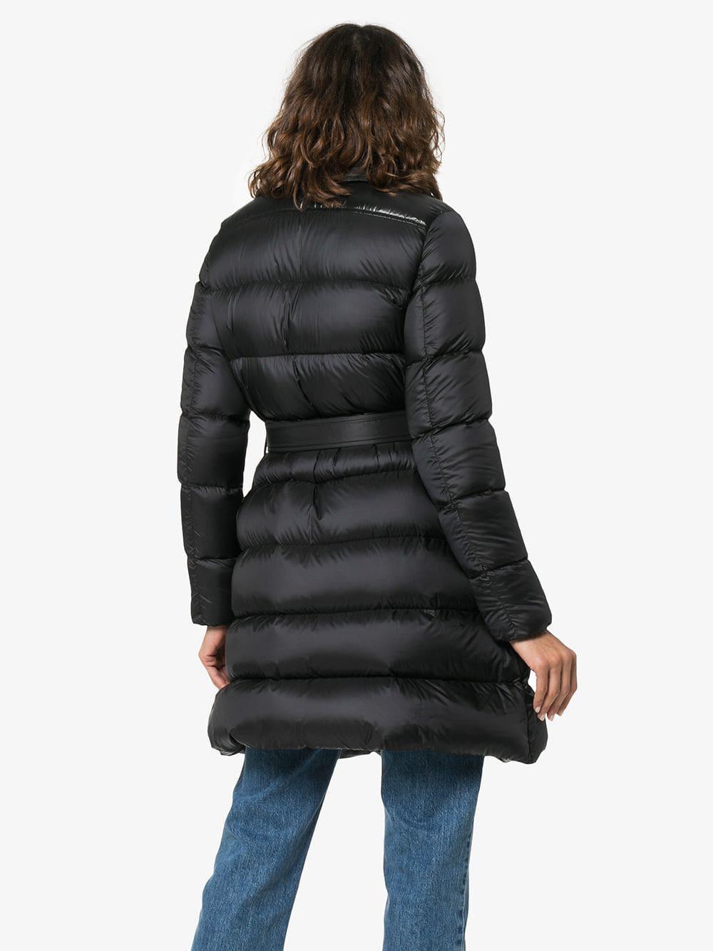 645be836ffdc Lyst - Moncler Gelinotte Belted Coat in Black