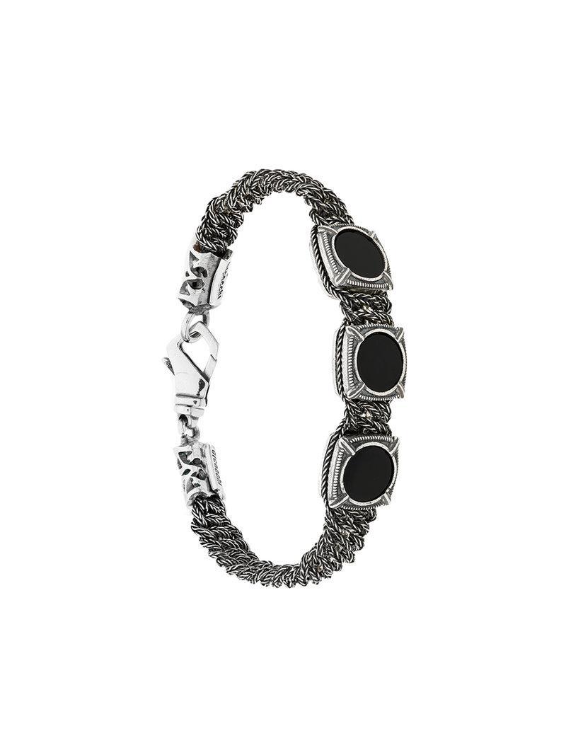 Emanuele Bicocchi round shape embellished bracelet - Brown KqMR9vl
