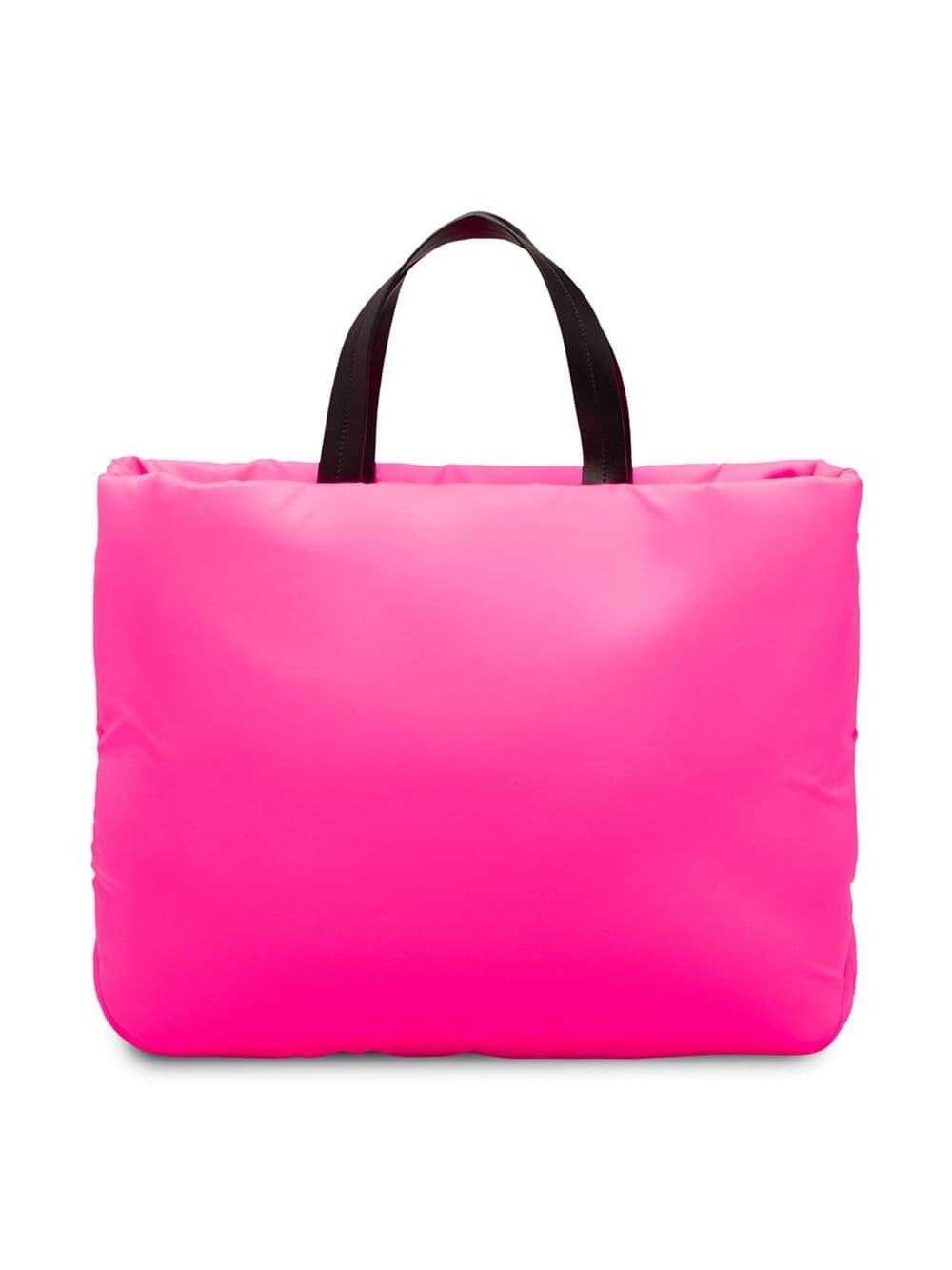 41129b08e2cf Lyst - Prada Medium Padded Nylon Tote in Pink