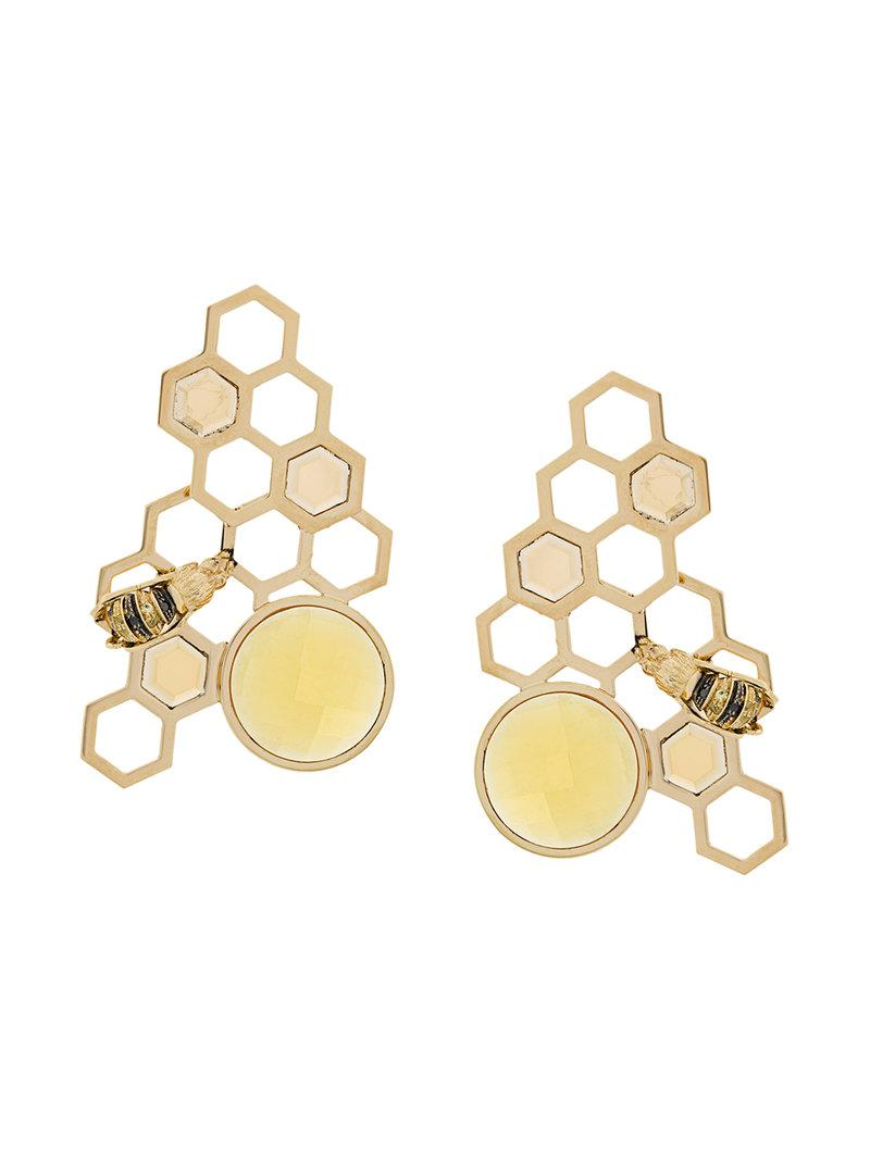 Delfina Delettrez 9kt yellow gold To Bee or Not To Be earring - Metallic L4ea506Zd