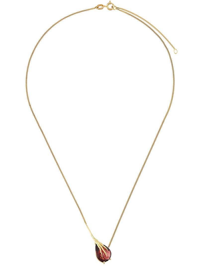 Wouters & Hendrix dragon and heart pendant necklace - Metallic kXdudN9HIm