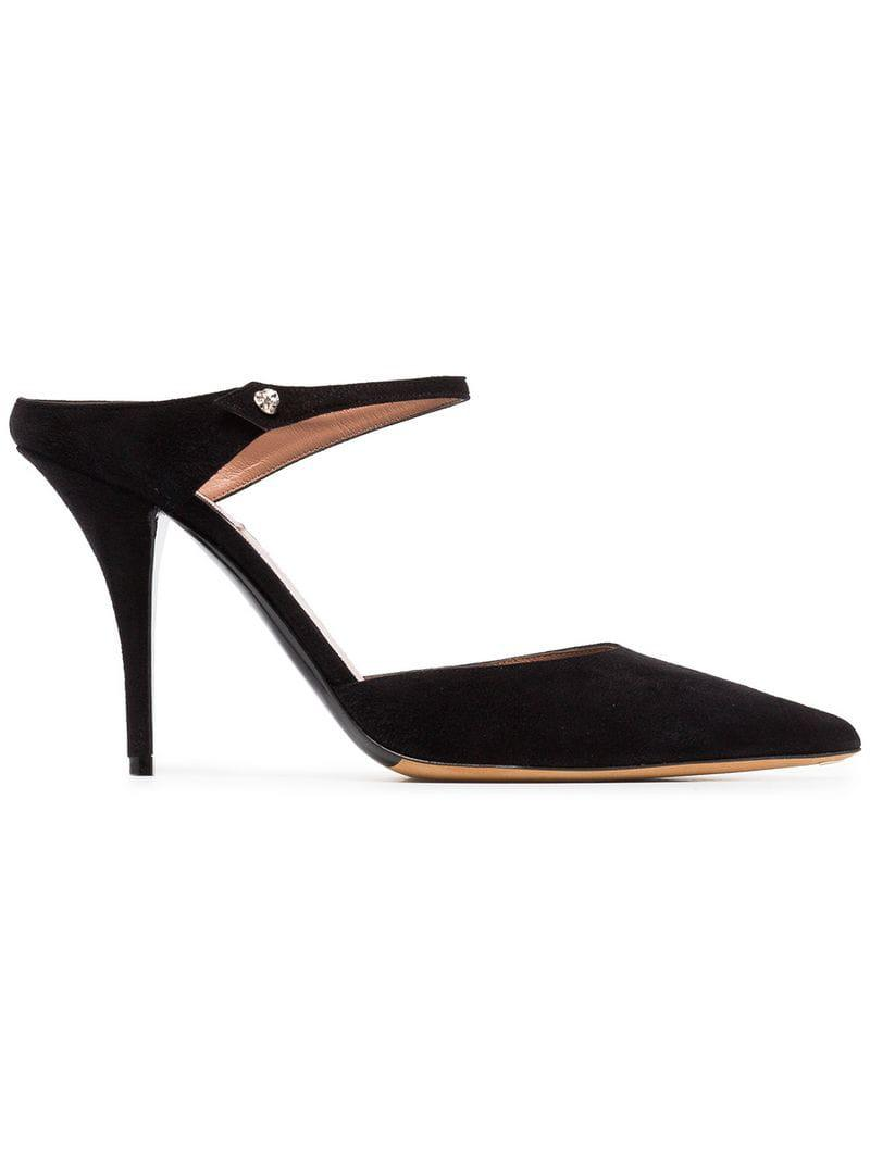 5fbec5326 Lyst - Tabitha Simmons Black Allie 95 Suede Mules in Black - Save 18%