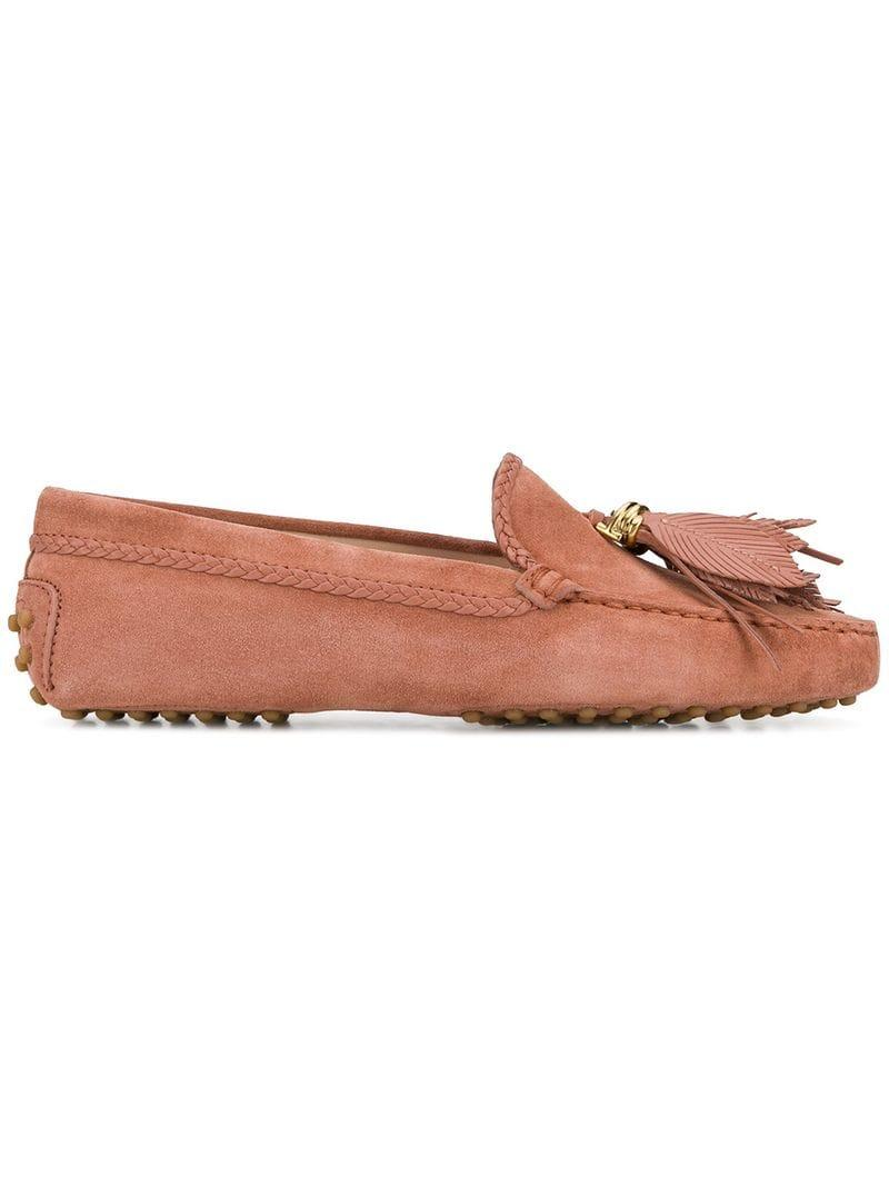 511383348cd Lyst - Tod S Tassel Gommino Loafers in Pink