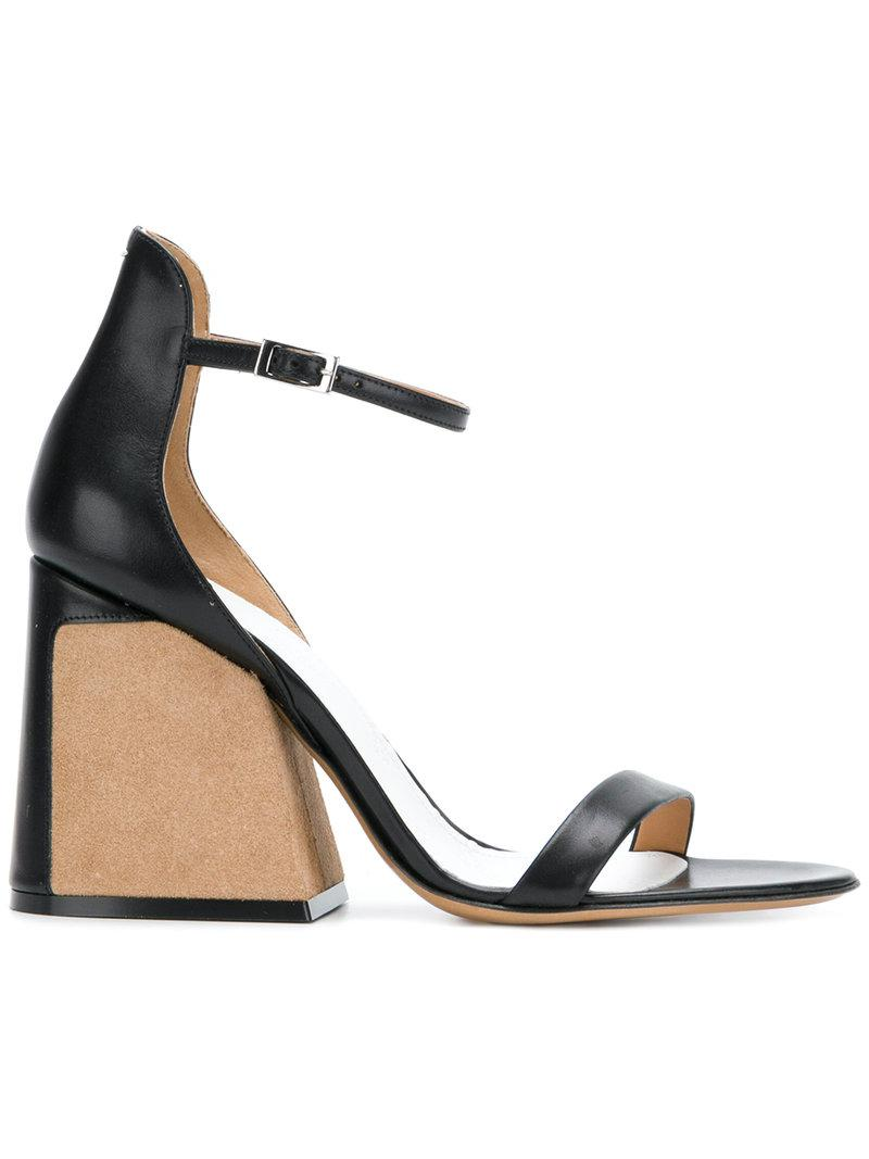 Boutique Moschino contrast sandals - Black farfetch neri Manchester En Venta beFYabXIYL