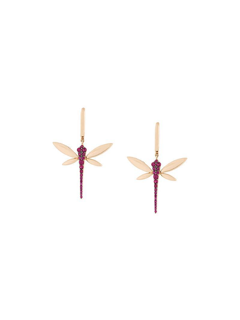 Anapsara dragonfly earrings - Metallic whFX86fj