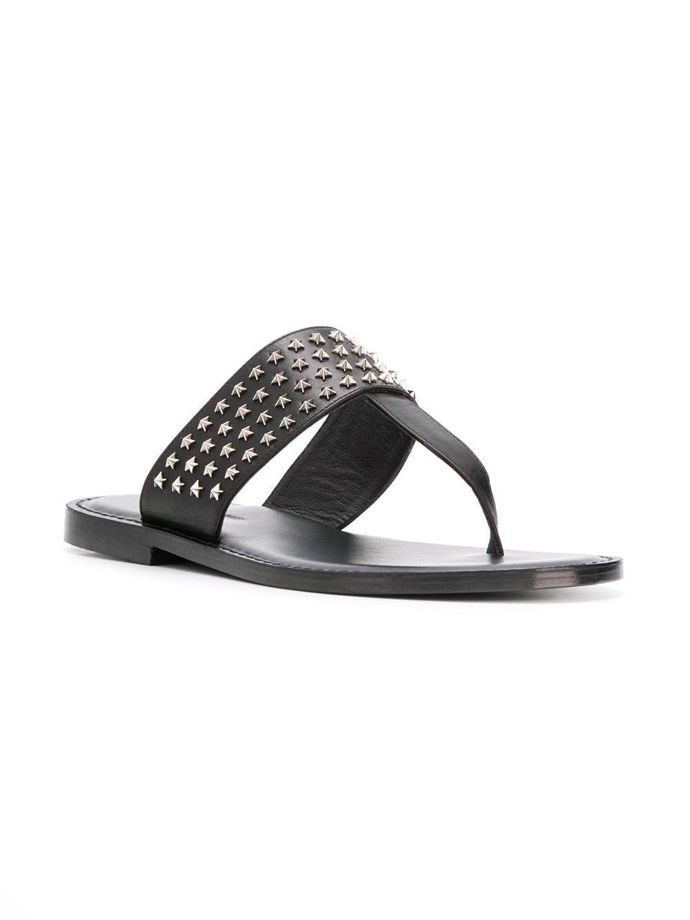 03191e38a0726 ... Black Star Studs Flip-flops for Men - Lyst. View fullscreen