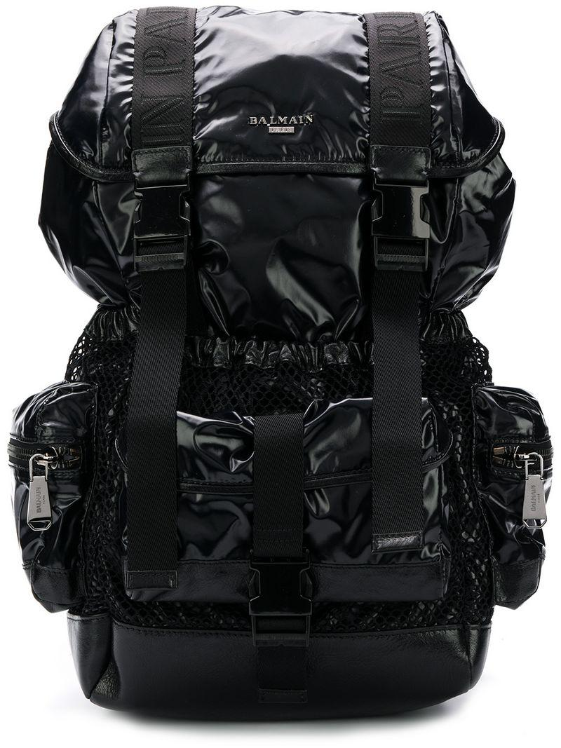 4c25e778a499 Balmain Utility Pocket Backpack in Black for Men - Lyst