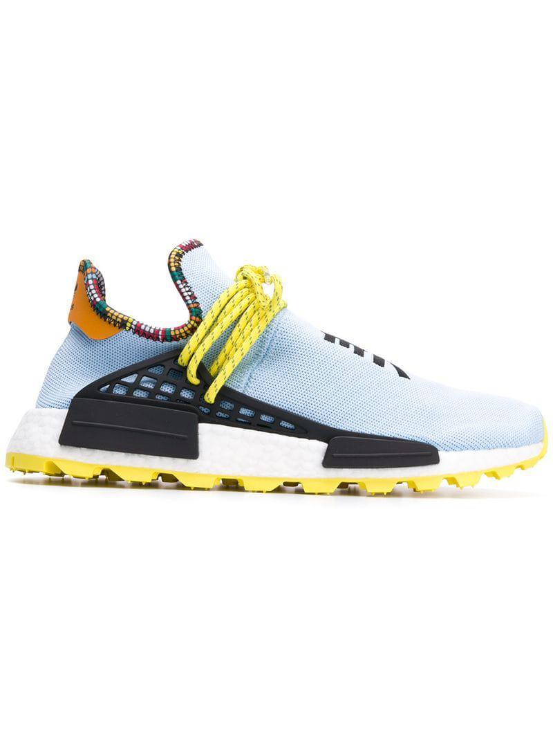 Adidas Originals Blue Baskets Adidas X Pharrell Williams SolarHU NMD Lyst