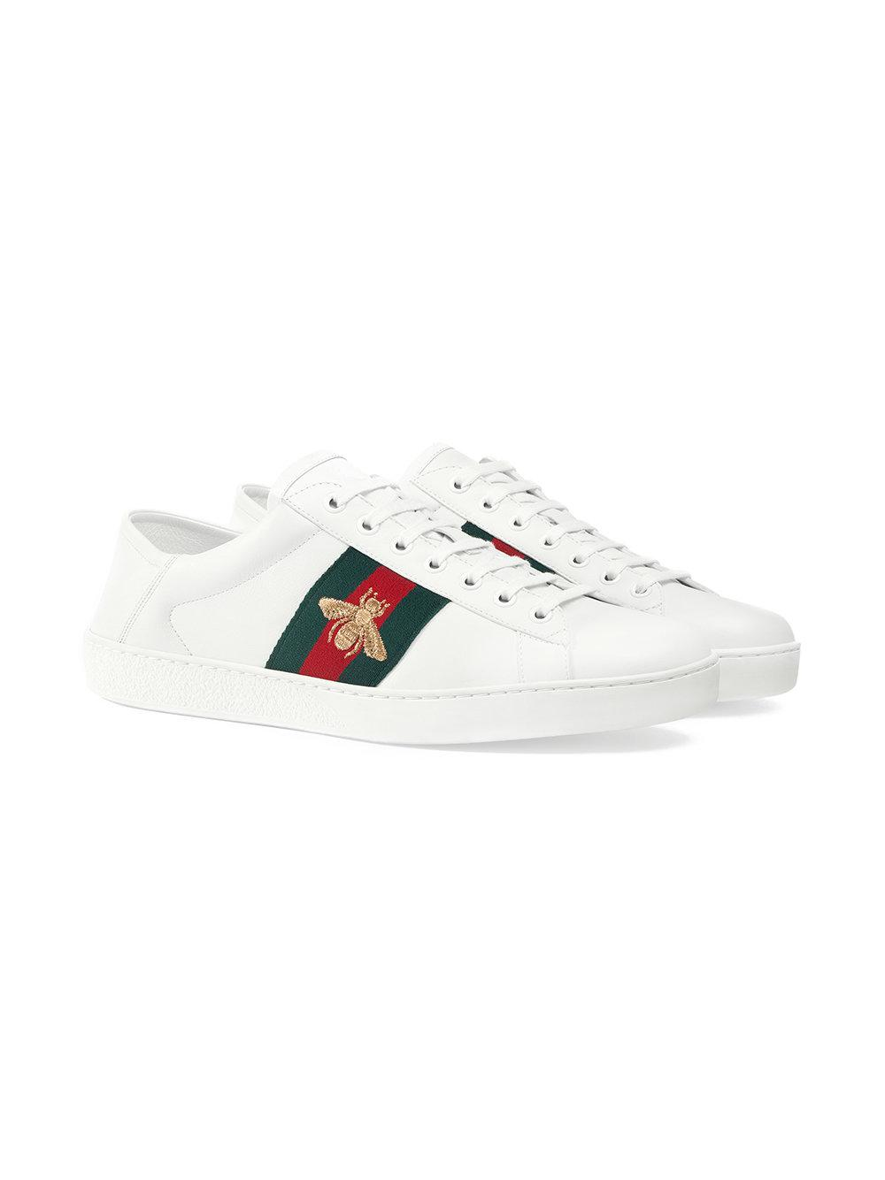 03b6abbd9ca Lyst - Gucci Ace Sneaker in White for Men