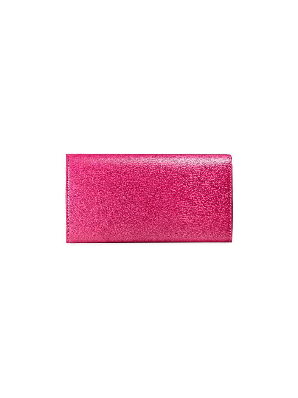 4818f5d3966 Lyst - Gucci GG Marmont Leather Continental Wallet in Pink