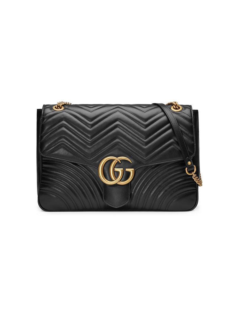 bf58904136a Lyst - Sac porté épaule GG Marmont Gucci en coloris Noir
