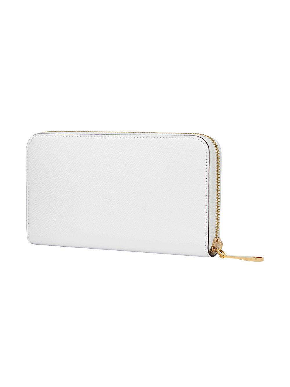 Fendi - White Portefeuille à plaque logo - Lyst. Afficher en plein écran b23a9e27393