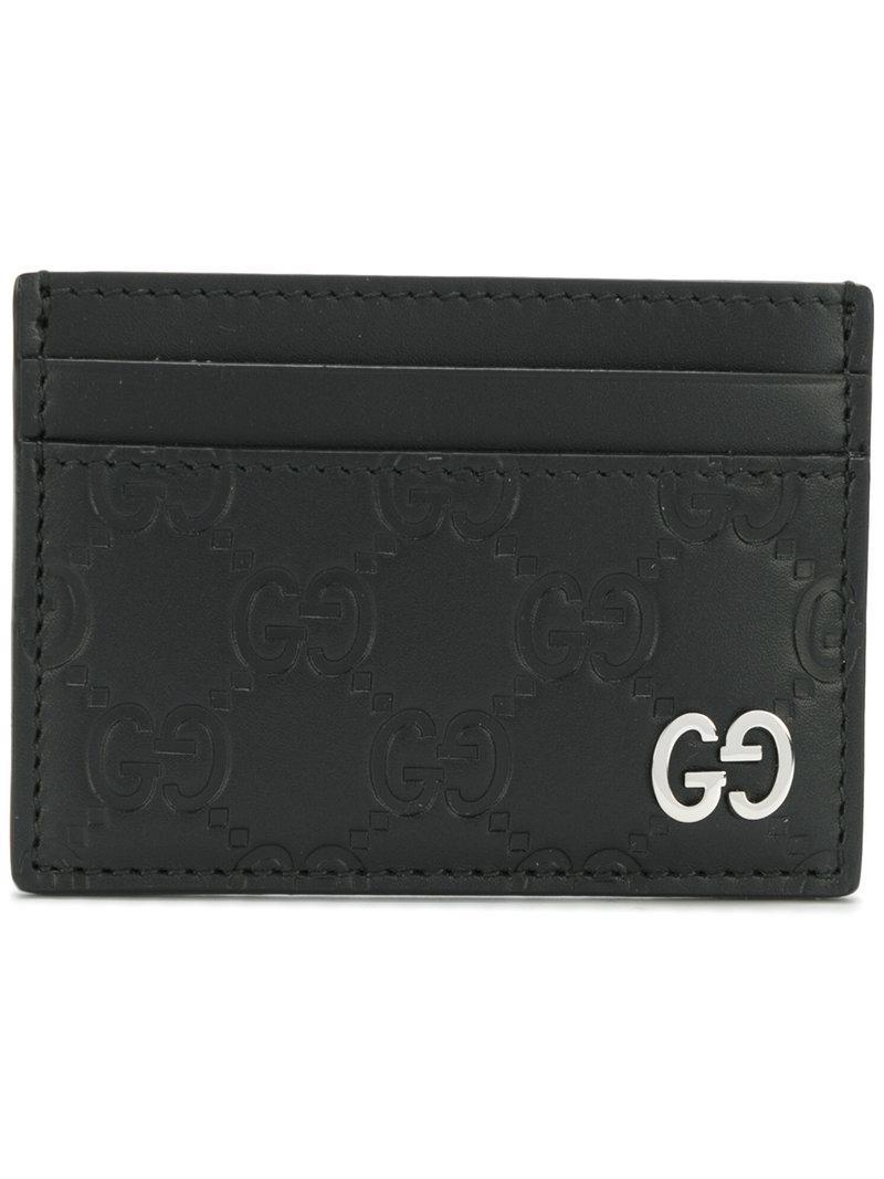 86ea0f341e55 Lyst - Gucci Signature Card Case in Black for Men