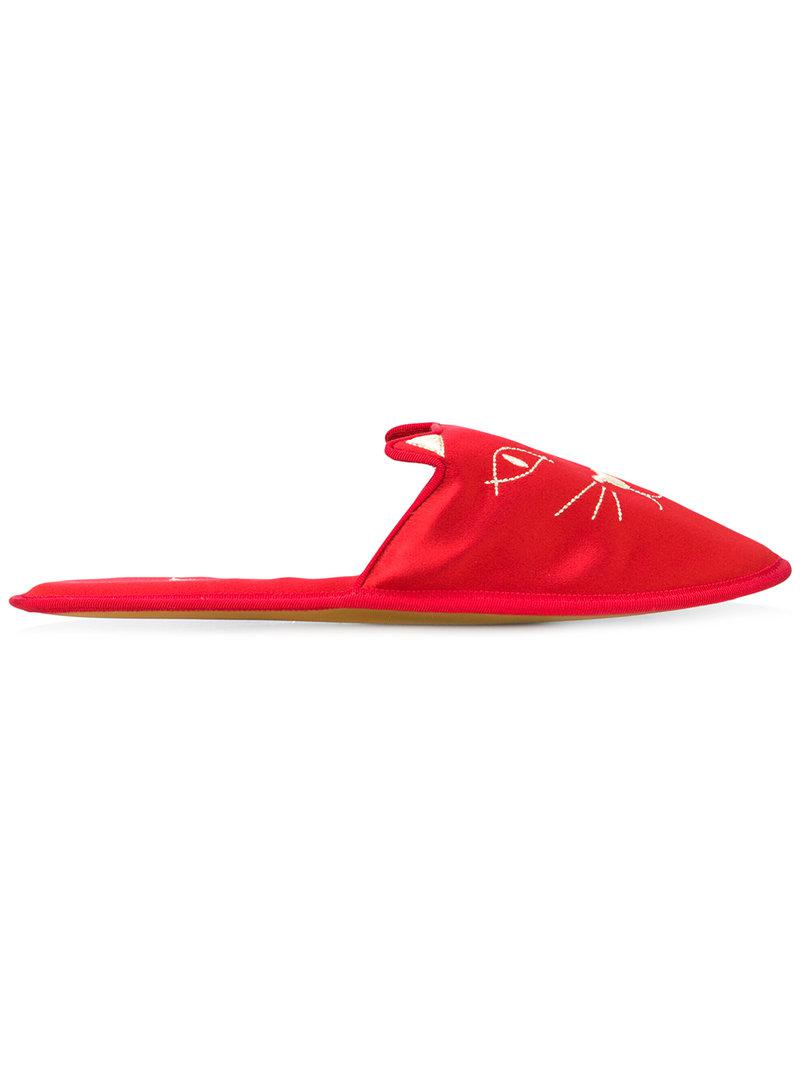 Charlotte Olympia House Cat slippers i4mEgys