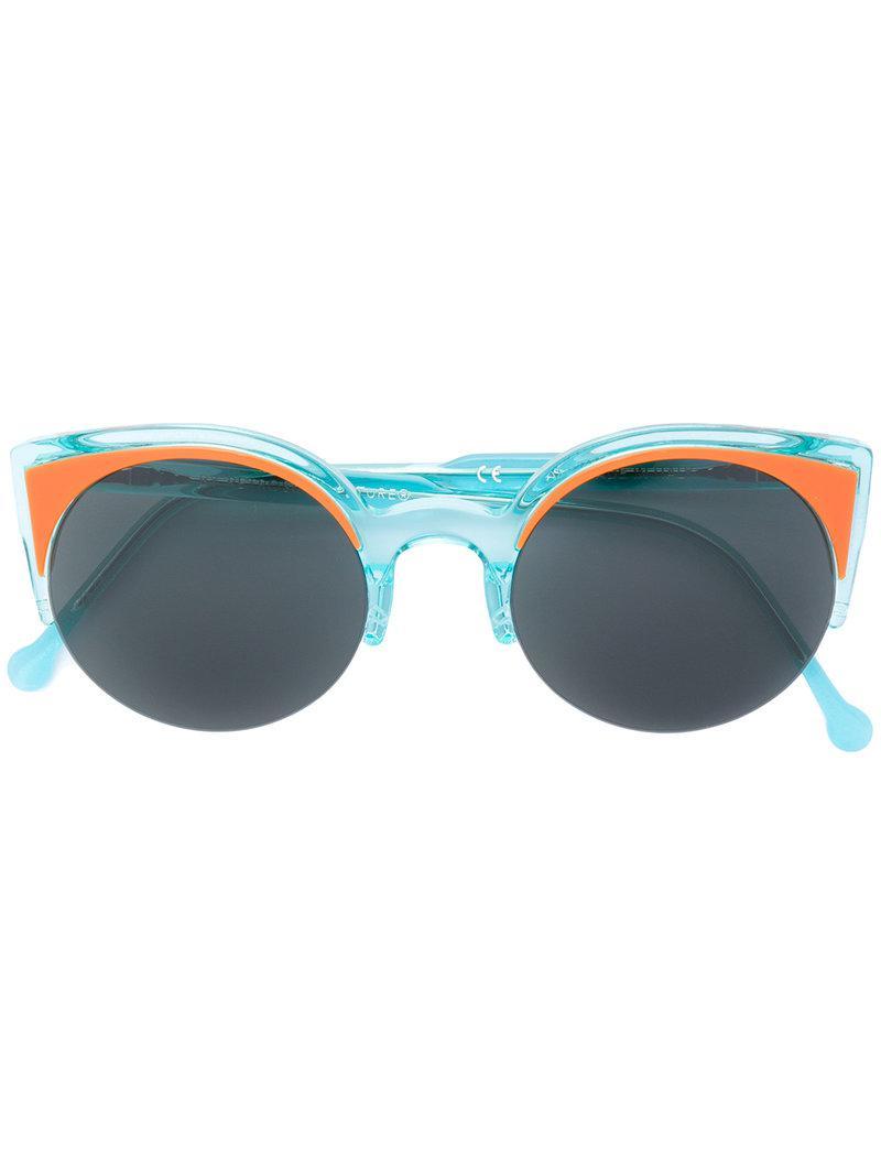 d35037684d53 Retrosuperfuture - Blue Cat Eye Sunglasses - Lyst. View fullscreen