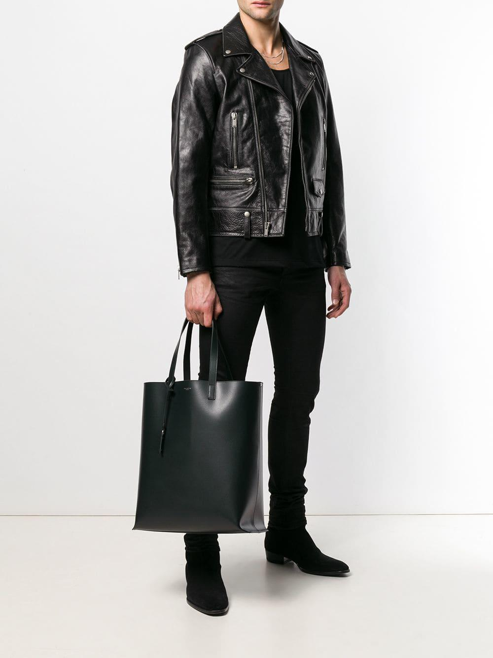 65e5bc23a1f Lyst - Saint Laurent Logo Tote Bag in Black for Men