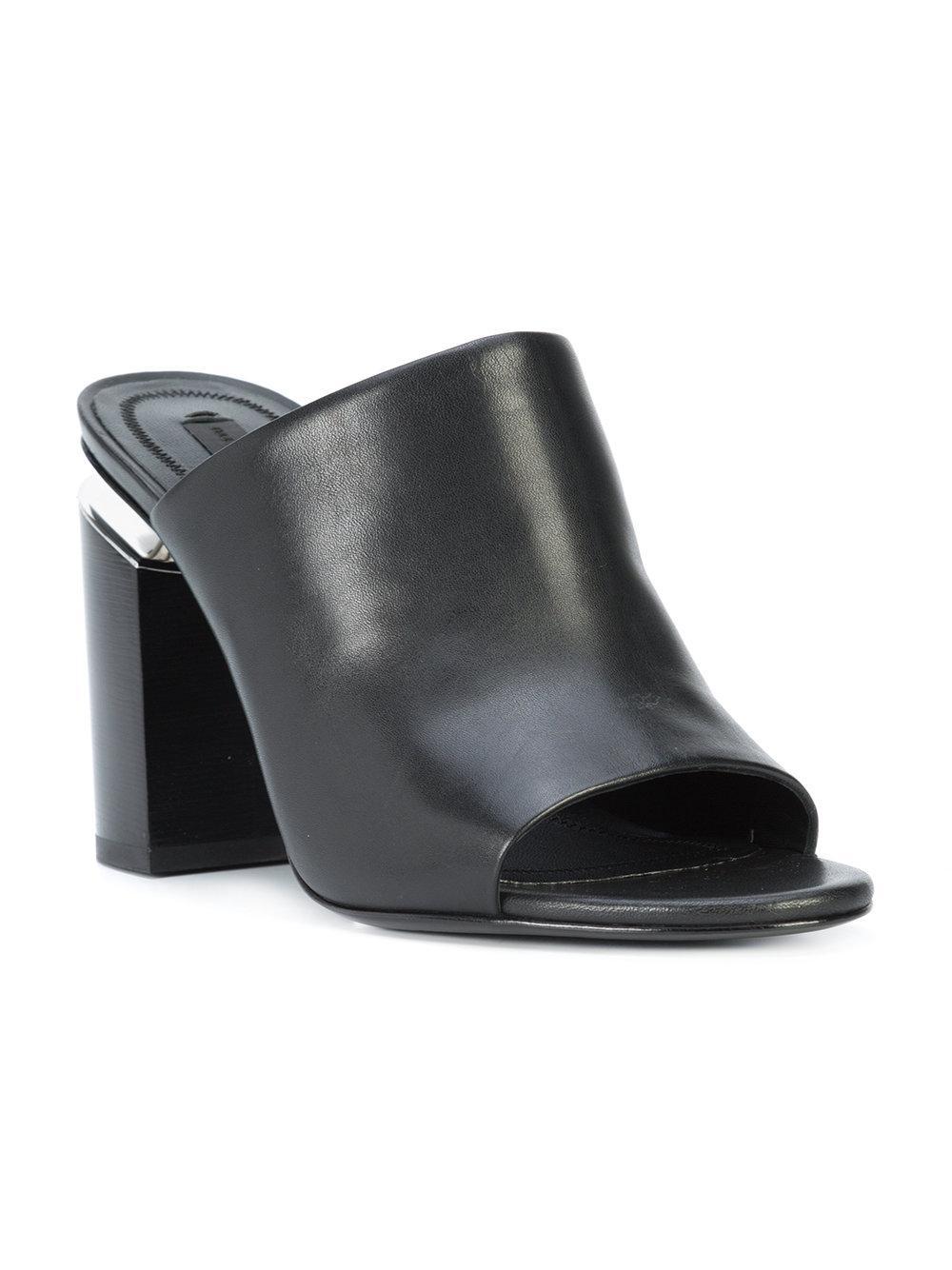 aa3b37a9d6c Lyst - Alexander Wang Avery High Heel Mules in Black