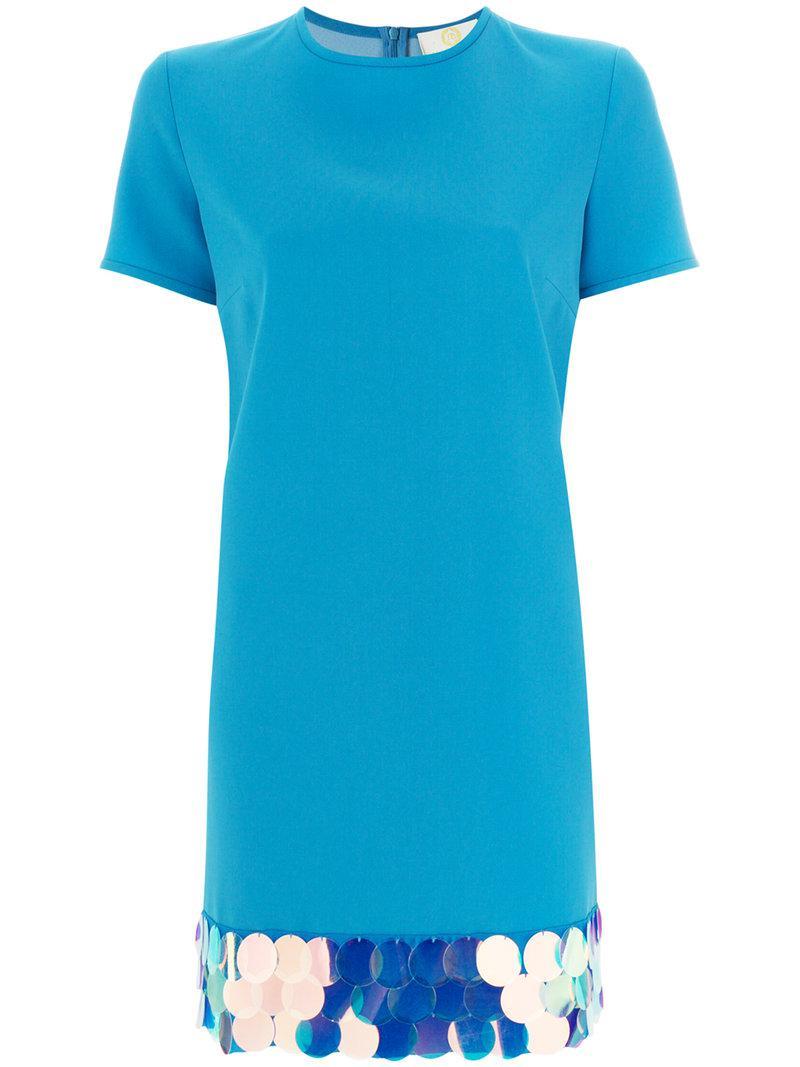 Lowest Price Online Cheap Sale Huge Surprise Sara Battaglia embellished hem T-shirt dress Footlocker Online Irfbp4