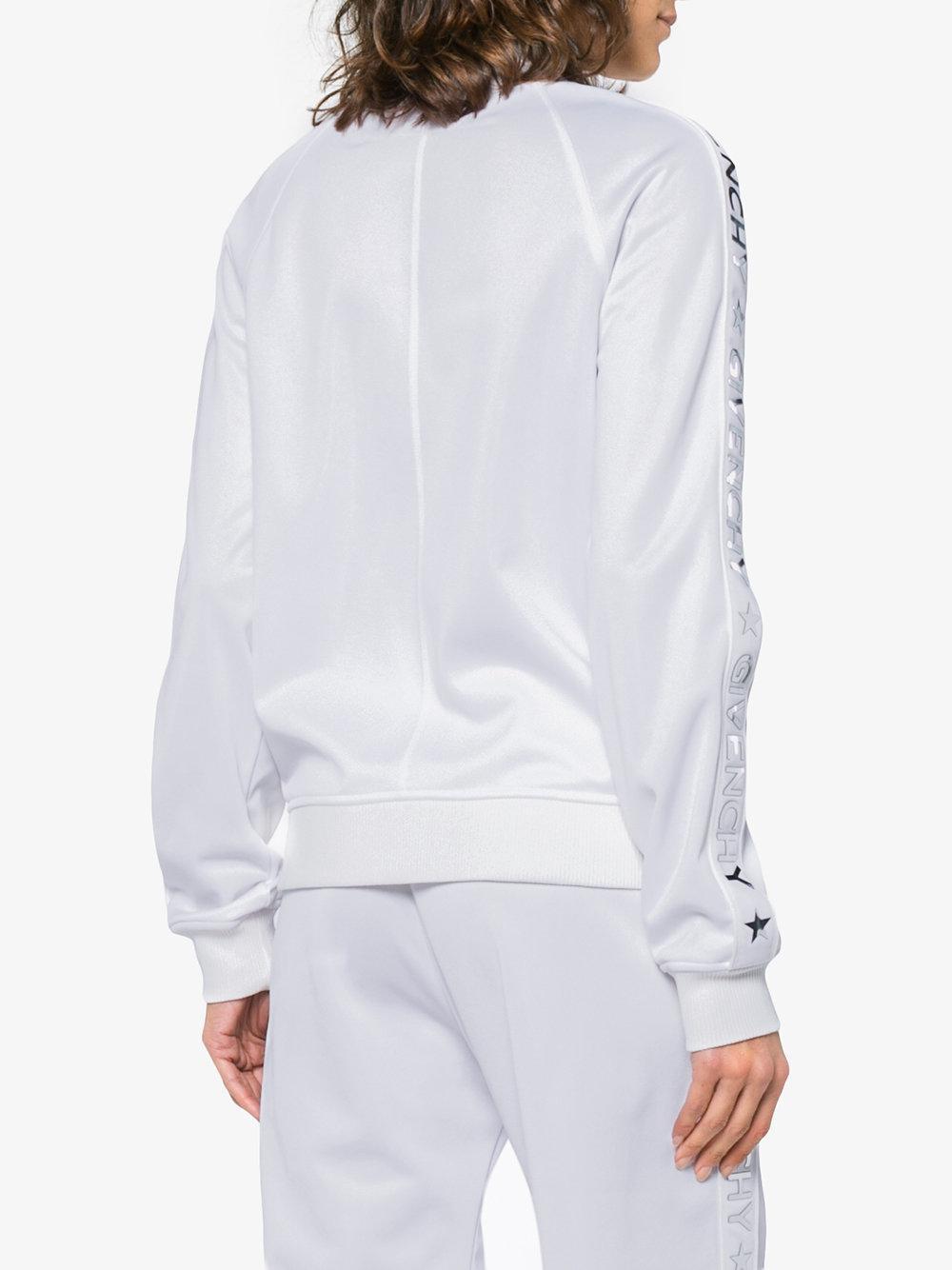 Écran Veste De À Afficher Lyst En Zippée Givenchy Jogging Bandes White Logo Plein Uw5qEwg7