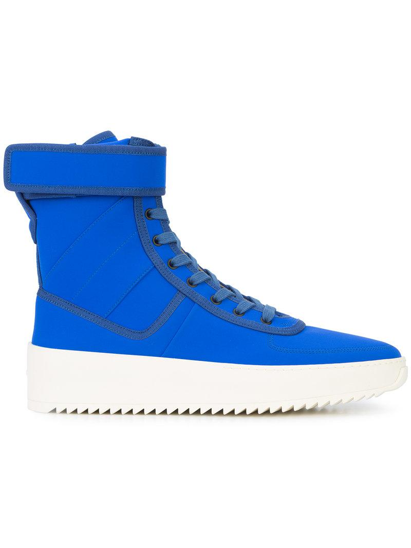 Military Nylon High-top Sneakers - Bright blueFear of God MsxKmGtsKF