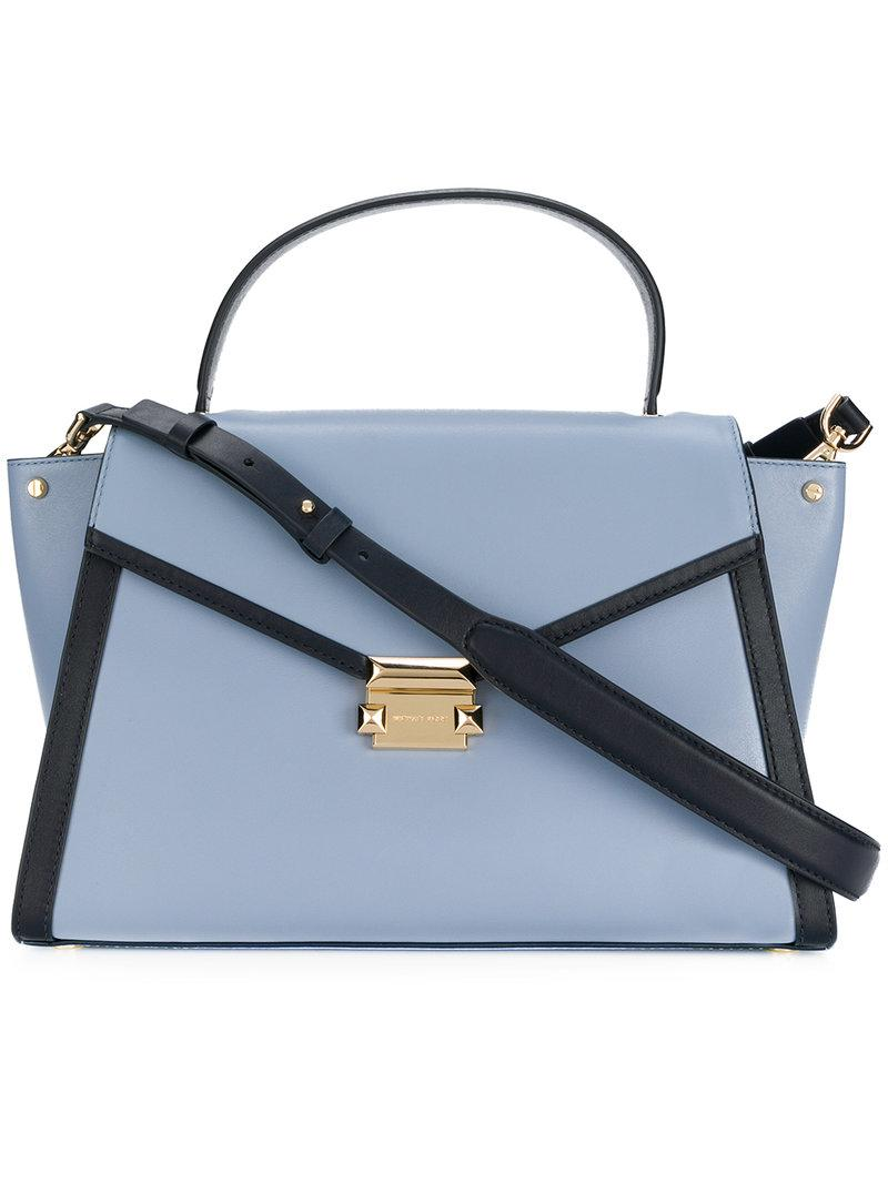5e1599a11c6d Lyst - Michael Michael Kors Whitney Medium Satchel in Blue
