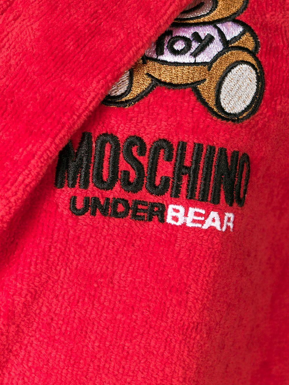 Lyst - Moschino Teddy Underbear Bathrobe in Red 759aae5d2