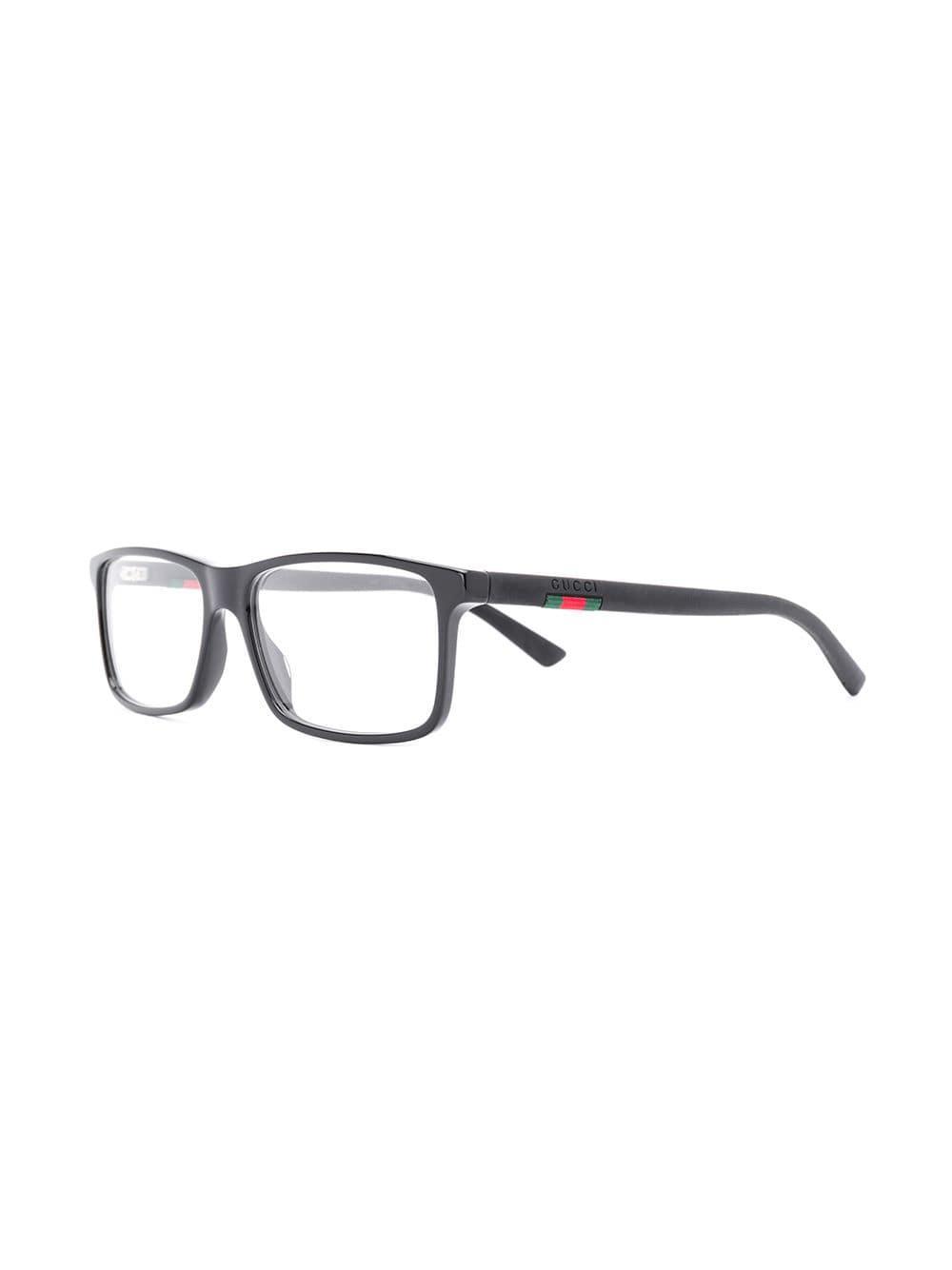 877cfeb98a Gucci - Black Rectangular Glasses for Men - Lyst. View fullscreen