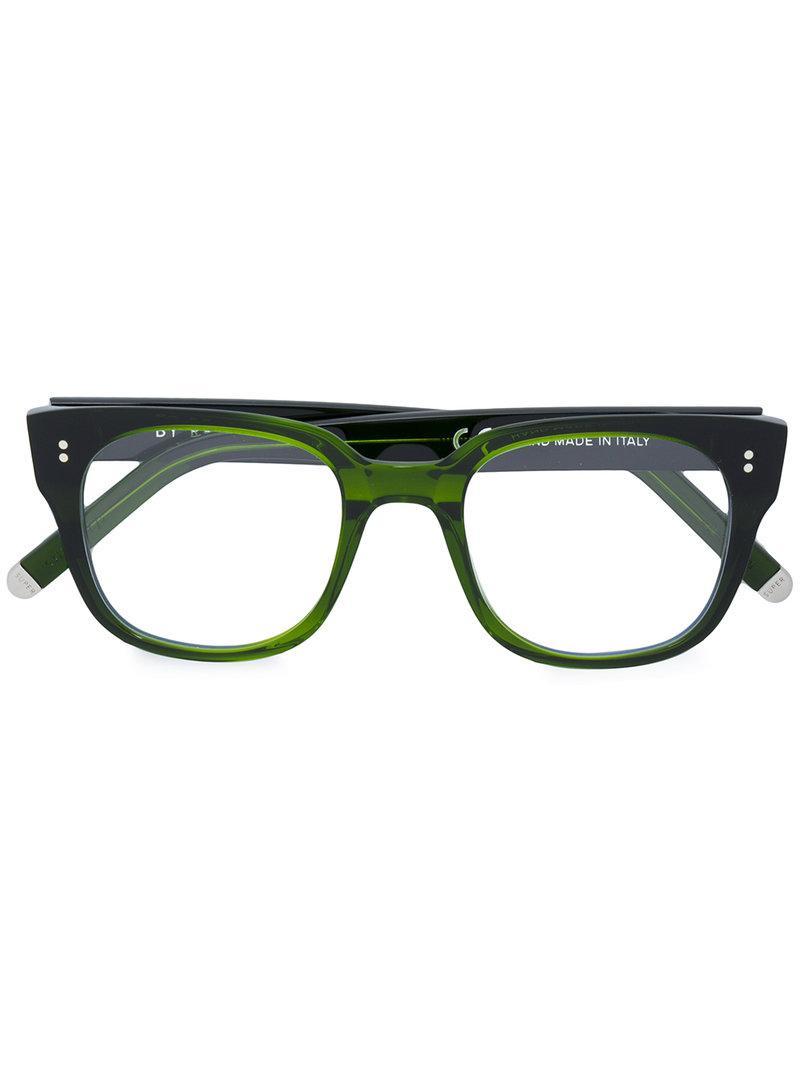 Lyst - Retrosuperfuture Numero 8 1/2 Square Frame Glasses in Green