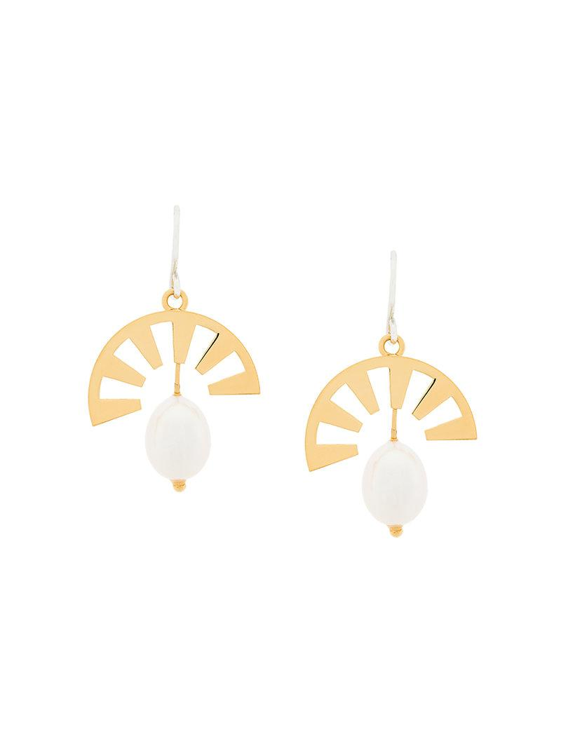 Wouters & Hendrix Technofossils mother of pearl earrings - Metallic 2ubsa
