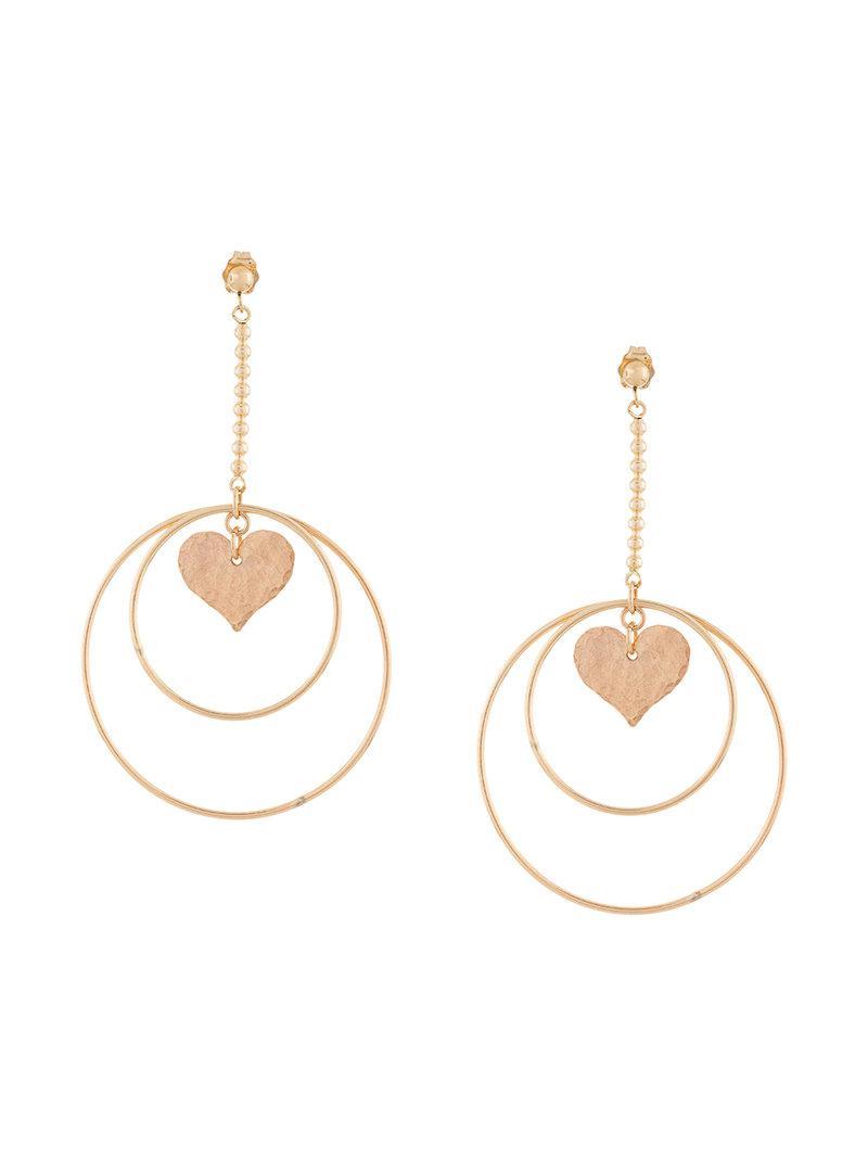 heart earrings - Metallic PetiteGrand di2MyecmFA