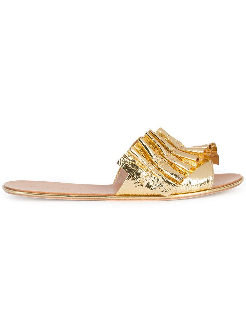 Loeffler Randall Ruched strap slippers wazhqOGv6